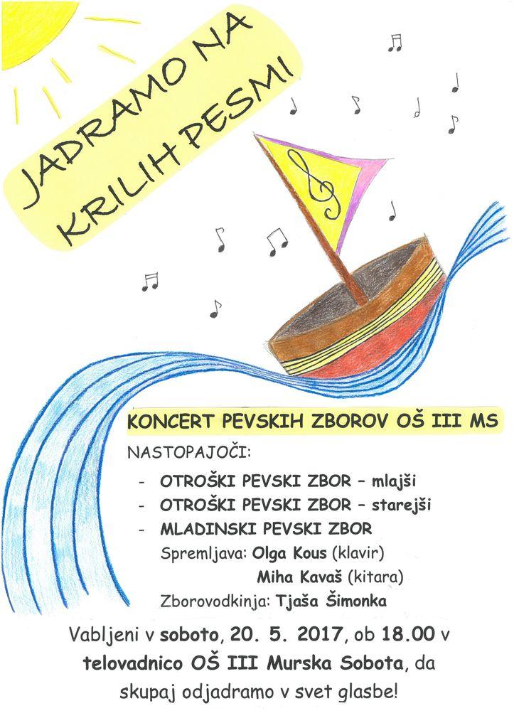 Vabilo na koncert pevskih zborov naše šole