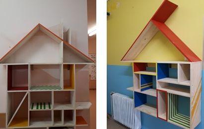 """Dve hiški KNJIGOBEŽNICI za knjige sta """"zrasli"""" tudi na naši šoli"""